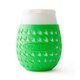 Goverre Stemless Wine Glass - Thick Glass  with Silicone Sleeve & Drink-Through Lid - Green