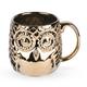 Embossed Metallic Gold Owl Mug - 20 oz