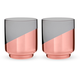 Viski Raye Copper-Dipped Crystal Rocks Glasses - 12 oz - Set of 2