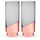 Viski Raye Copper-Dipped Crystal Highball Glasses - 14 oz - Set of 2
