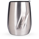 EcoVessel PORT Triple Insulated Stainless Steel Wine Tumbler with Lid - 10 oz - Silver
