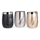 EcoVessel PORT Triple Insulated Stainless Steel Wine Tumbler With Lid - 10 oz