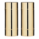 Viski Pacific Bamboo Highball Glasses - Gold Plated Stainless Steel - 14 oz - Set of 2
