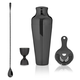 Viski Warren Premium Gunmetal Black Stainless Steel Bar Tool Set - 4 Pieces