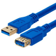 USB 3.0 A Male to A Female extension cable gold-plated - 10 Feet