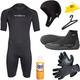 NeoSport Men's 3mm Shorty Wetsuit Package