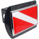 Dive Flag Metal Hitch Covers