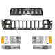 1ABGK00027-1993-95 Jeep Grand Cherokee Grille  Header Panel & Light Set