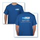 1ATSH00012-1A Auto T Shirt (Tee Shirt) with Logos Blue MEDIUM