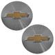 GMWHK00026-Chevy Wheel Center Cap Pair