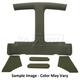 ZCIHL00051-1982-92 Chevy Camaro Pontiac Firebird Headliner  Sail Panel  and Visor Set