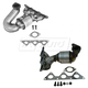 1AEEK00709-Mitsubishi Eclipse Galant Exhaust Manifold with Catalytic Converter Assembly Pair