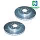 1APBR00176-Brake Rotor Pair  Nakamoto 55118-DSZ