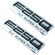 FDBMK00082-2005-07 Ford F250 Super Duty Truck Nameplate Pair  Ford OEM 5C3Z-16720-EB