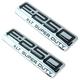 FDBMK00082-2005-07 Ford F250 Super Duty Truck Nameplate Pair