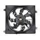 1ARFA00473-2007-09 Hyundai Santa Fe Radiator Cooling Fan Assembly