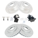 1APBS00553-2000-03 Mercedes Benz CLK320 CLK430 Brake Kit  Nakamoto CD853  CD873  34101-DSZ  34100-DSZ
