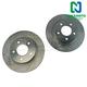 1APBR00307-Mazda 3 Brake Rotor Rear Pair  Nakamoto 31366-DSZ