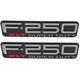 FDBMK00125-1999-04 Ford F250 Super Duty Truck Nameplate Pair