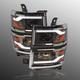 1ALHZ00053-2014-15 Chevy Silverado 1500 Headlight Pair