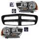 1ABGK00069-2011-14 Dodge Charger Grille & Headlights Kit
