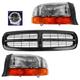 1ABGK00071-Dodge Dakota Durango Grille  Headlights & Corner Lights Kit