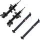 KYSSP00031-2009-14 Honda Pilot Shock & Strut Kit  KYB Excel-G 349151  339361  339362