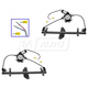 1AWRK00424-Volvo S40 V40 Window Regulator Front Pair