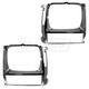 1ABMK00143-Jeep Headlight Bezel Pair