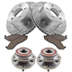 1ABMS00064-Jeep Cherokee Wrangler Brake & Wheel Bearing Kit Front