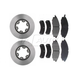RABFS00036-Nissan Frontier Xterra Brake Pad & Rotor Kit Front Raybestos SGD830M  96615R