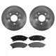 RABFS00020-Brake Pad & Rotor Kit Front Raybestos SGD376M 580437R