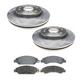 RABFS00001-Brake Pad & Rotor Kit Front Raybestos SGD1092C  580279R