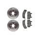 RABFS00003-Brake Pad & Rotor Kit Raybestos SGD369C  580438R