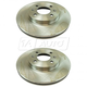 1ABFS02975-2012-16 Hyundai Accent Kia Rio Brake Rotor Pair