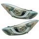 1ALHP01222-2014-16 Hyundai Elantra Headlight Pair