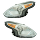1ALHP01252-2015-17 Nissan Versa Headlight Pair