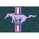 ZAMAF00279-1979-93 Ford Mustang Floor Mat 818-Ocean Blue/Bright Blue  Auto Custom Carpets 8886-160-1102114000