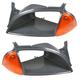 1ABMK00065-1995-97 Geo Metro Pontiac Firefly Headlight Bezel w/Side Marker Light Pair