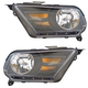 1ALHP01266-2010-14 Ford Mustang Headlight Pair