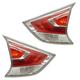 1ALTP01118-2014-16 Nissan Rogue Tail Light Pair