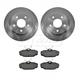 1ABFS01208-Brake Pad & Rotor Kit Rear