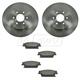1ABFS01189-2004-09 Cadillac SRX Brake Pad & Rotor Kit Rear