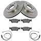 1ABFS01165-BMW Brake Pad with Sensors & Rotor Kit Front
