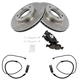 1ABFS01166-BMW Brake Pad with Sensors & Rotor Kit Front