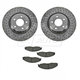 1ABFS01087-2005-08 Pontiac Grand Prix Brake Pad & Rotor Kit Front