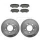 1ABFS01093-2010-13 Kia Soul Brake Pad & Rotor Kit Rear
