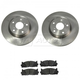 1ABFS01098-2007 Toyota Camry Camry Hybrid Brake Pad & Rotor Kit Front