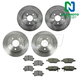 1ABFS01604-Brake Pad & Rotor Kit Rear Front