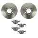 1ABFS01568-BMW Brake Pad & Rotor Kit Front